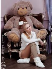 """Плюшевый медведь """"Топтыжка"""" 170 см серый"""