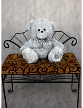 """Плюшевый медведь """"Теддик"""" серый 60 см"""
