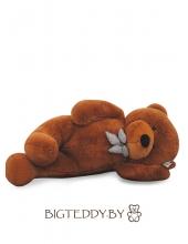"""Плюшевый медведь """"БигТедди"""" 190 см темно-коричневый длинноногий с бантиком"""