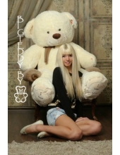 """Плюшевый медведь """"Плюшка"""" 160 см молочный"""