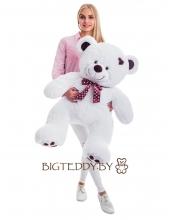 """Плюшевый медведь """"Фрэнки"""" 110 см белый"""