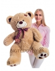 """Плюшевый медведь """"Фрэнки"""" 110 см кофейный"""