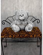 """Плюшевый медведь """"Теддик"""" тёмно-серый 60 см"""