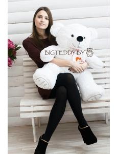 """Плюшевый медведь """"Милка"""" 100 см белый"""