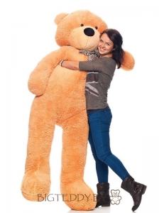 """Плюшевый медведь """"БигТедди"""" 210 см коричневый длинноногий c бантиком и шарфиком"""