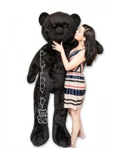 """Плюшевый медведь """"БигТедди"""" 210 см черный длинноногий c бантиком и шарфиком"""