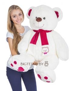 """Плюшевый медведь """"Кельвин"""" 120 см белый"""