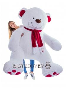 """Плюшевый медведь """"Кельвин"""" 240 см белый"""
