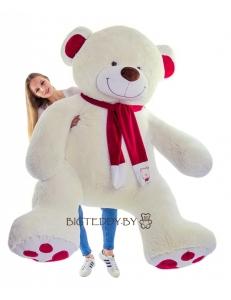"""Плюшевый медведь """"Кельвин"""" 200 см молочный"""