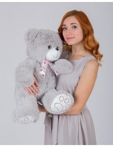 """Плюшевый медведь """"Милка"""" 70 см  серый"""